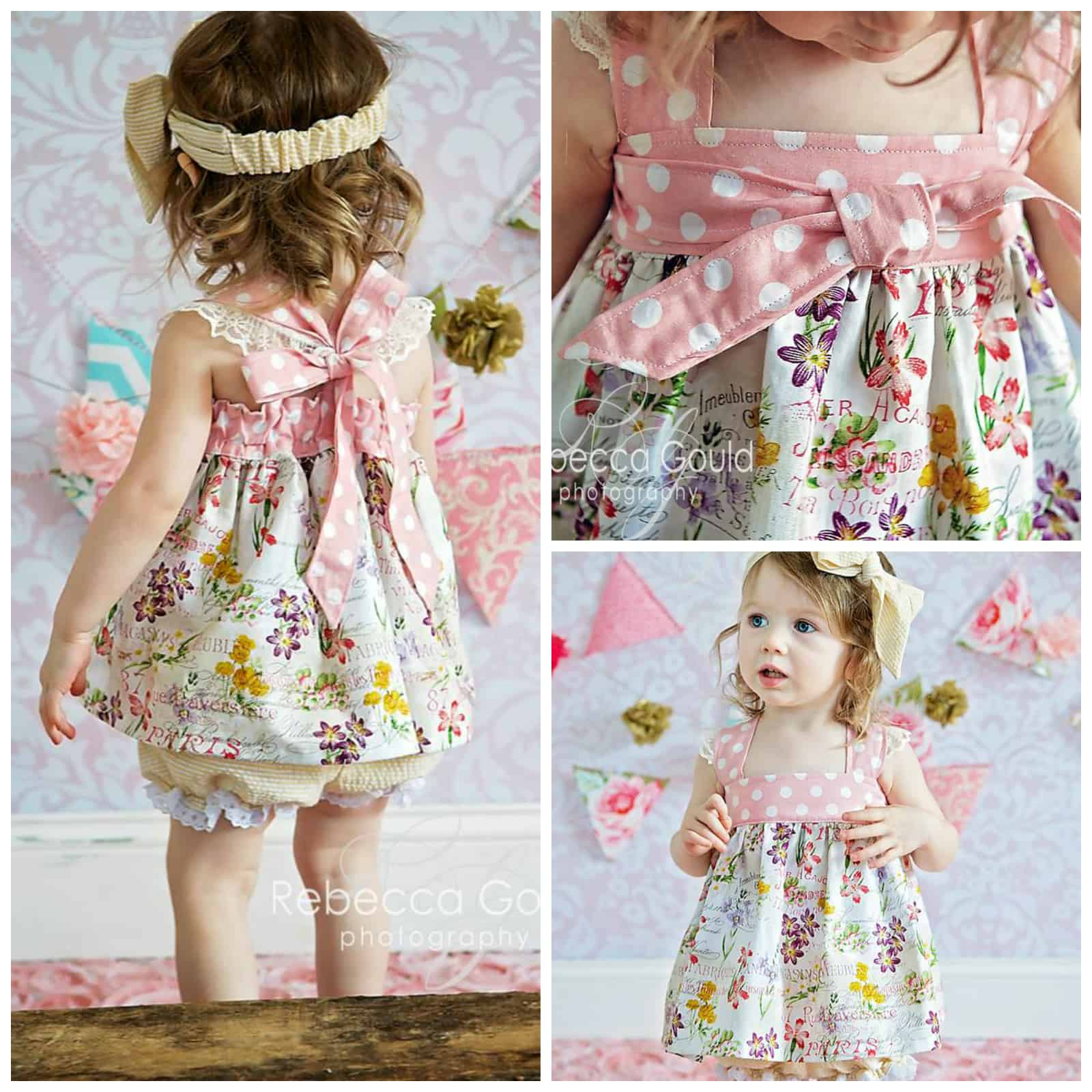 Baby Molly Bubble Romper Dress Top And Bloomer ⋆ Made