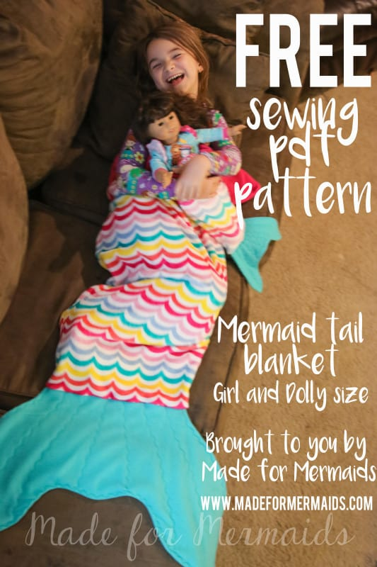 Free Mermaid Tail Blanket For Children And Dolly