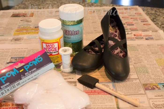 Tinkerbell/Glitter Shoes Tutorial
