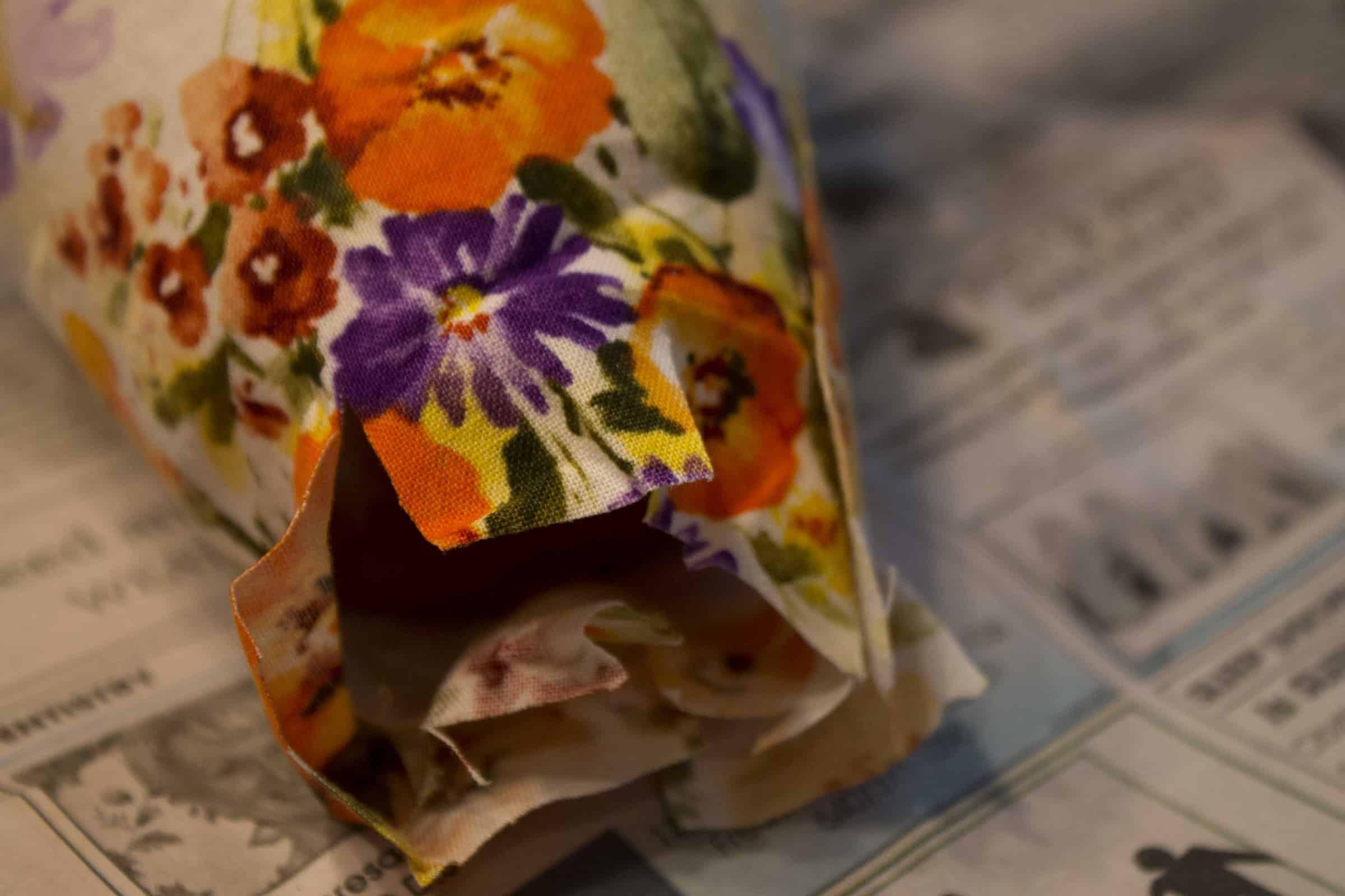 Fabric Flower Pot Tutorial