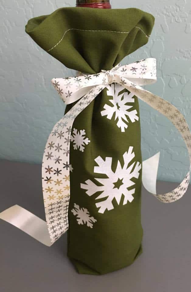 Free Pdf Pattern Fabric Gift Bag Or Wine Bag