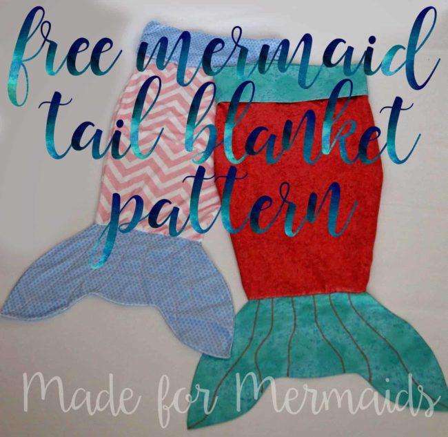 mermaid tag along blanket
