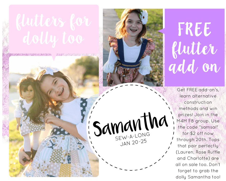 Samantha Suspender Skirt Update, Dolly Releases and Sew-a-long info!