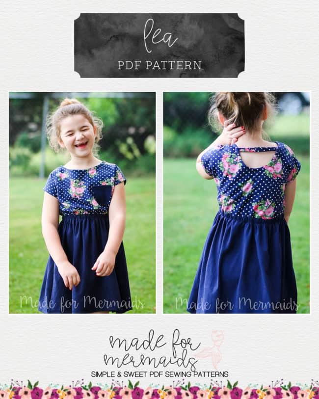 Dolman style tunic length dress and matching doll dress