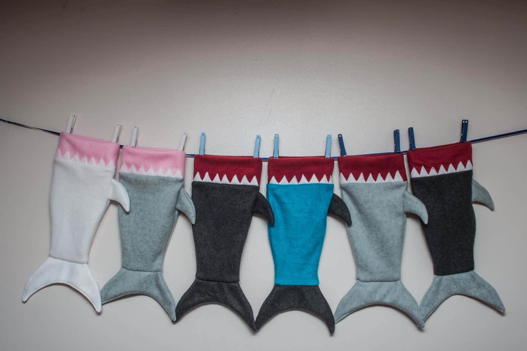 Free Shark Tail Blanket For Children And Dolly