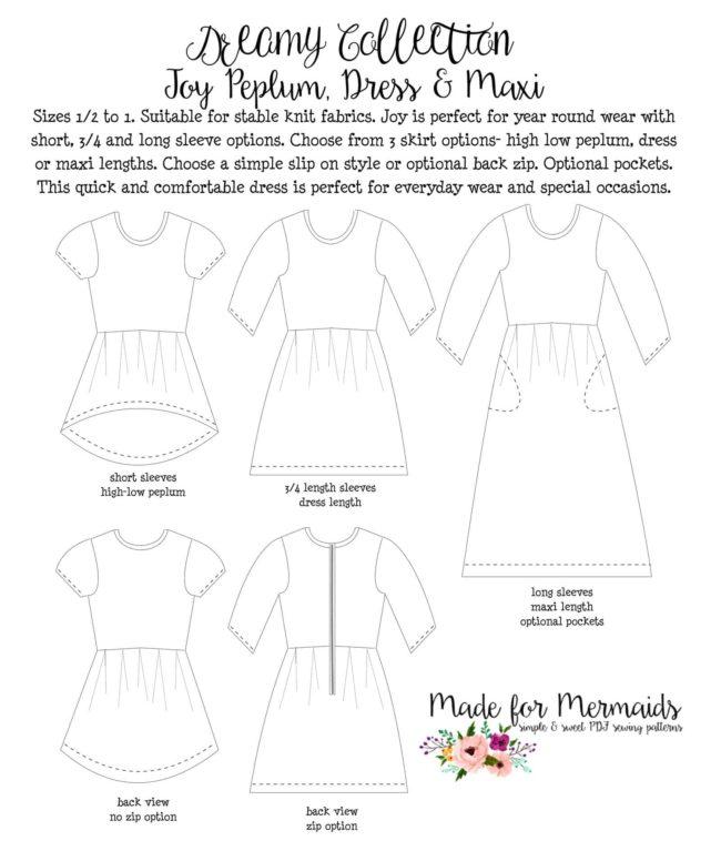 Dreamy Collection Joy Peplum Dress Maxi