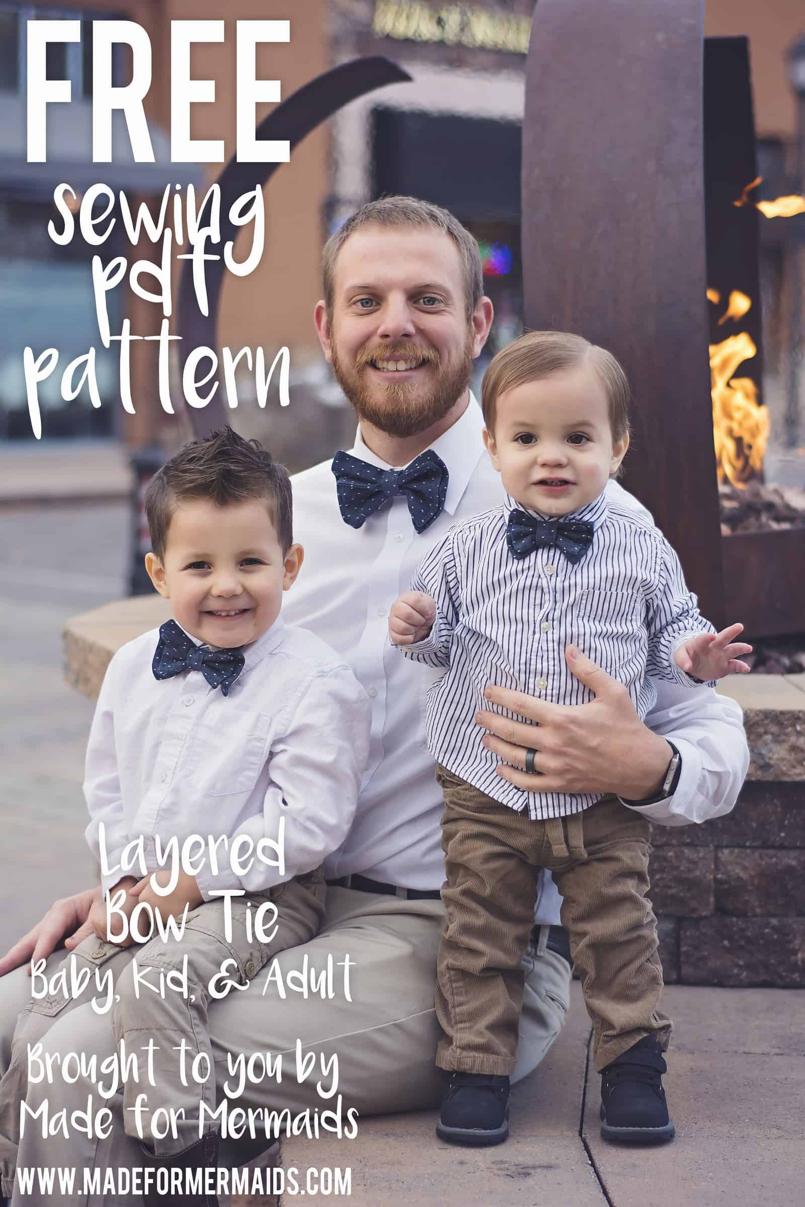 Layered Bow Tie for Baby, Kids, & Adults