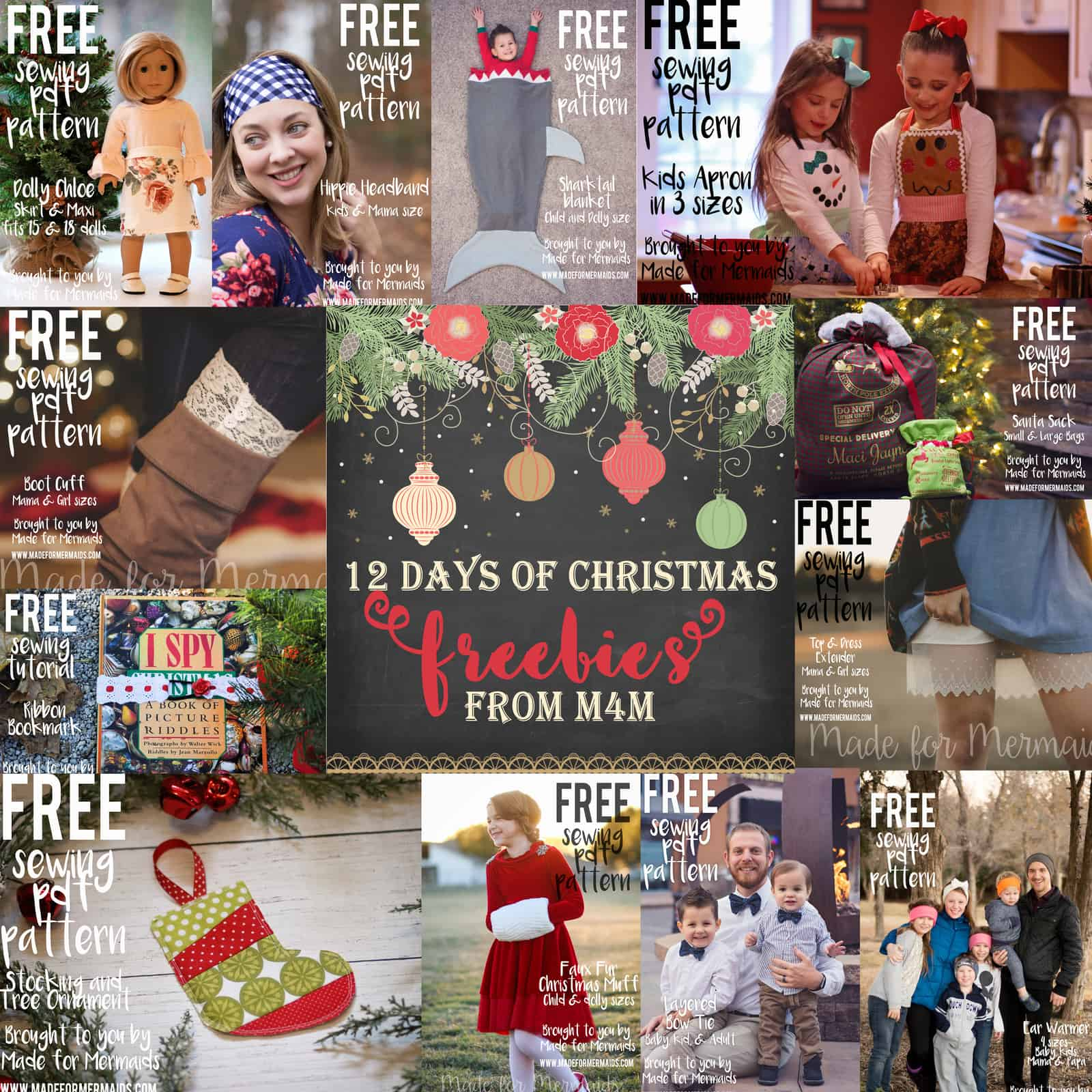 12 Days of Christmas Freebies 2016 Round Up