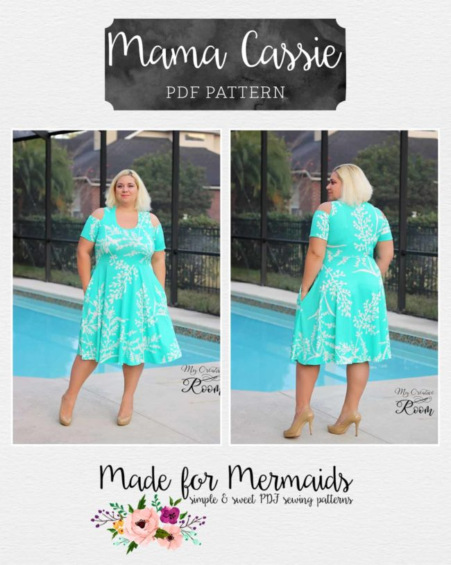 Mama Cassie Peplum Mini Dress Beauteous Mermaid Dress Pattern