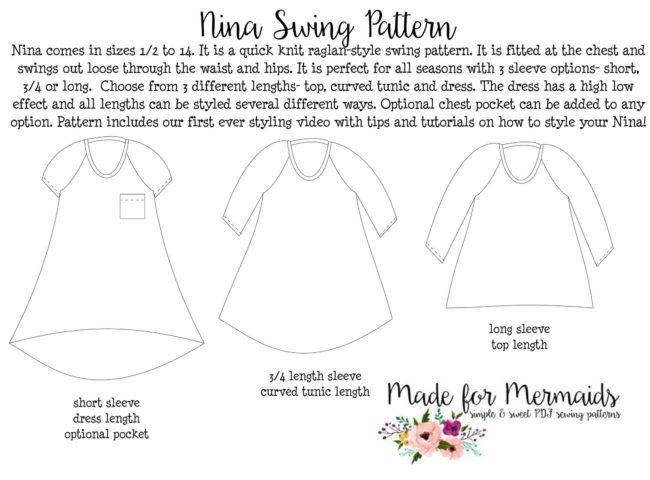 Nina Swing Pattern Inspiration Swing Dress Pattern