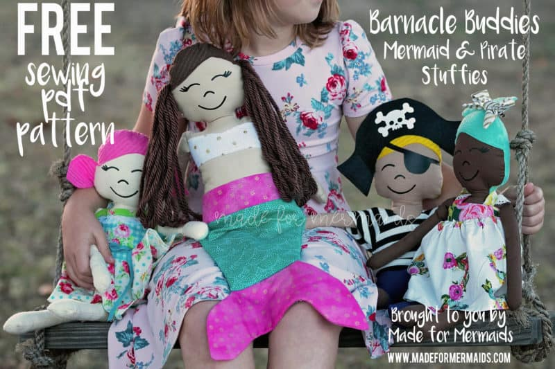 Barnacle Buddies Mermaid Pirate Stuffies