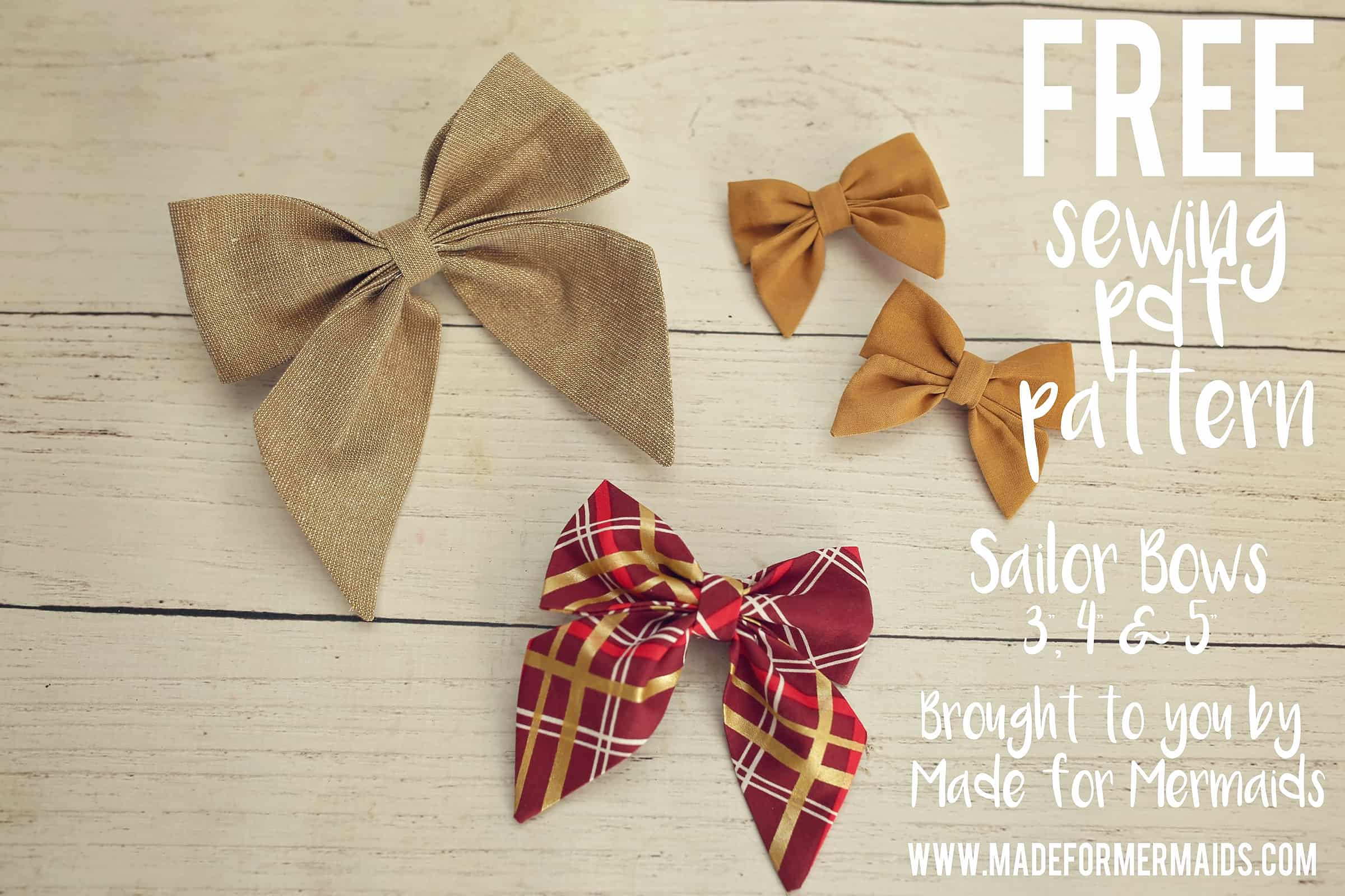 Free Pdf Pattern Sydney Sailor Bows In 3 Sizes
