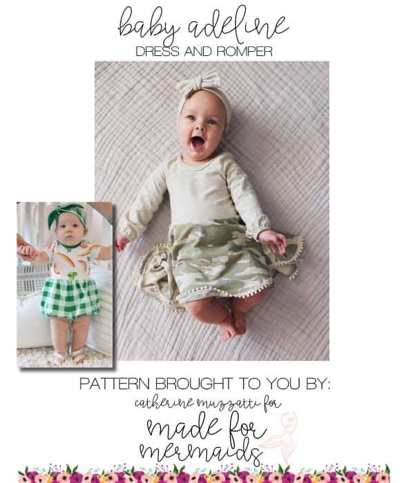 3b502ad40f25 Baby Adeline Romper, Dress & Bloomer