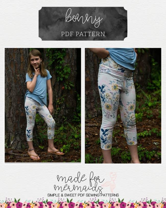 Cream Sphynx Capri Leggings Random Pattern