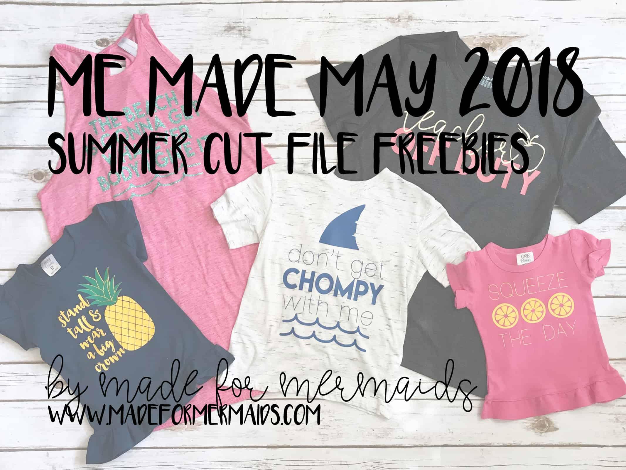 FREE Summer Cut Files