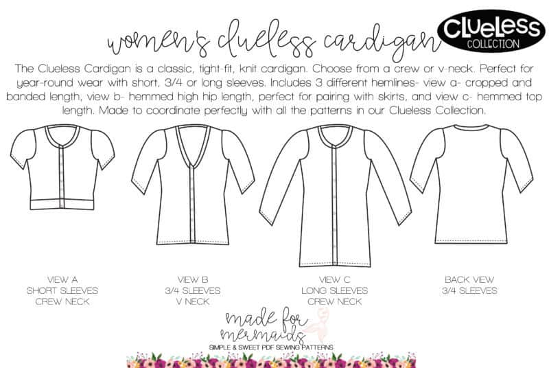 Women\'s Clueless Cardigan Pattern