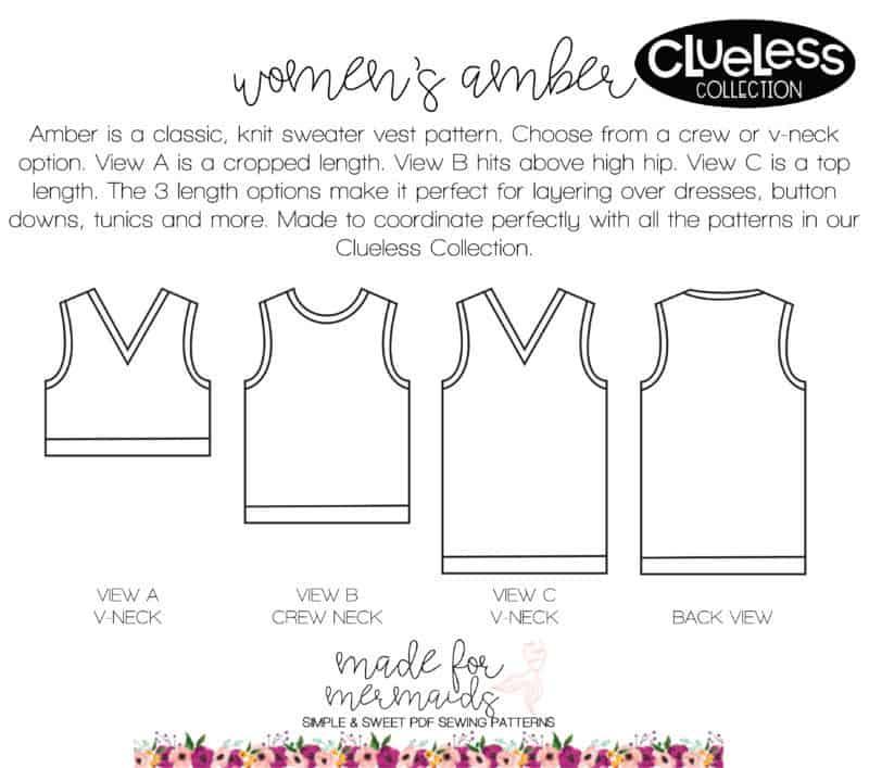 Women\'s Amber Sweater Vest Pattern