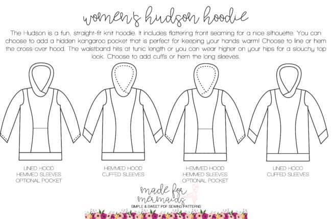Women's Hudson Hoodie Pattern