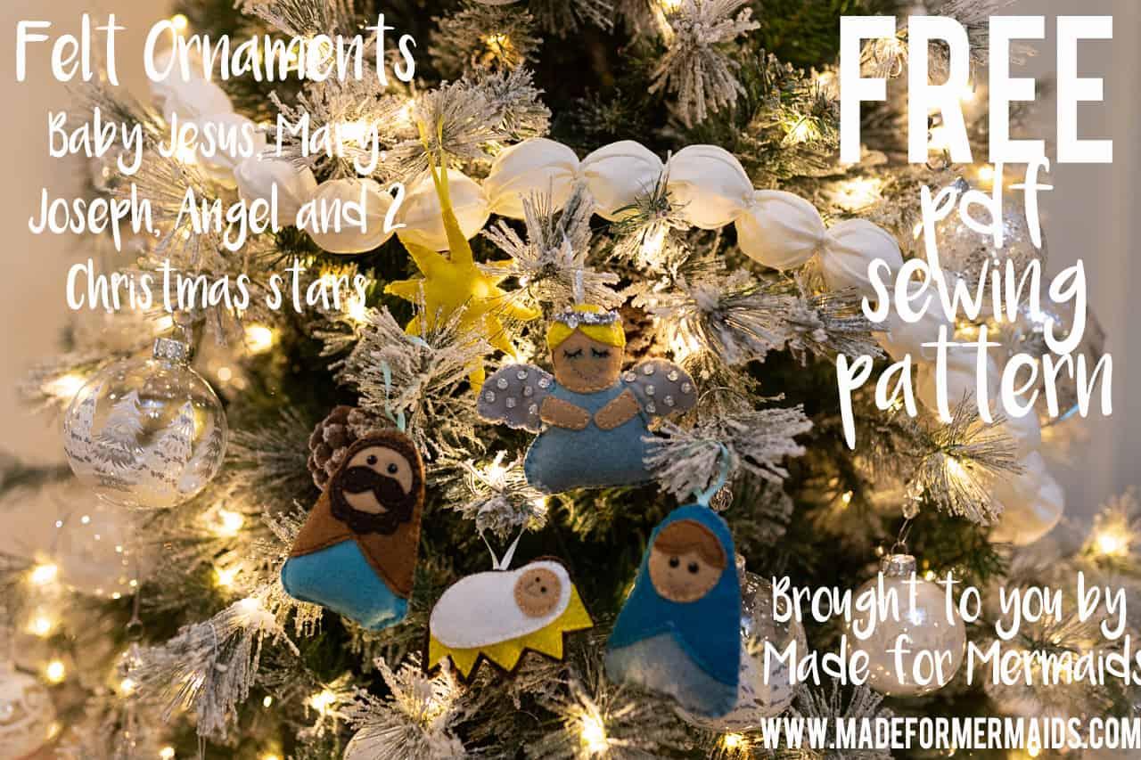 Free Pdf Pattern Felt Ornaments Pattern