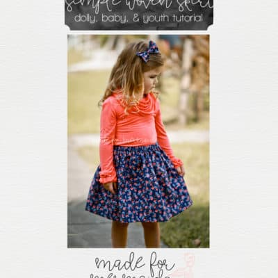 Simple Woven Skirt Tutorial
