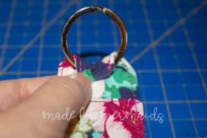 Coffee Theme Lip Balm Zipper Pouch Key Ring Fabric Keychain Coffee Lover Gift