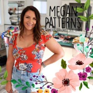 Megan Patterns (women's standards size chart)