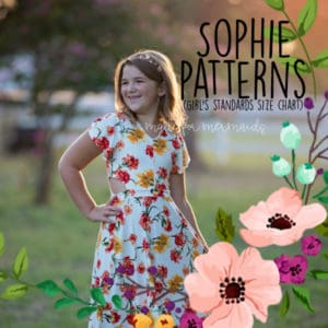 Sophie Patterns (girl's standards size chart)